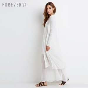 Forever 21 ribbed jersey cardigan